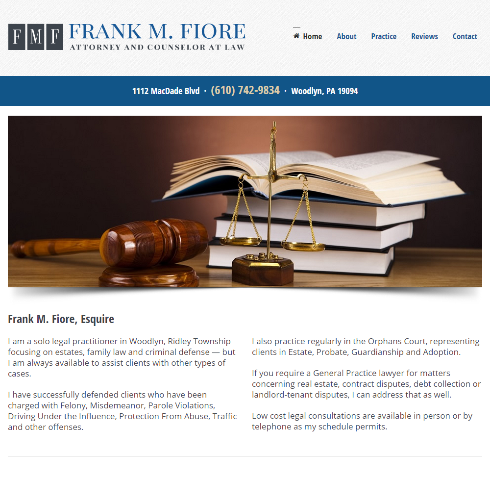 Frank M. Fiore Law
